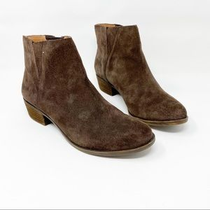 Lucky Brand Benissa Brown Suede Ankle Boots 10